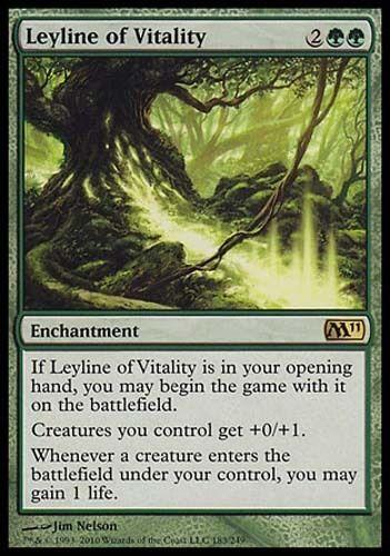 1x Leyline of Vitality M11 MtG Magic Green Rare 1 x1 Card Cards