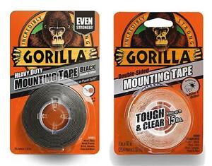 Gorilla-Glue-Heavy-Duty-Mounting-Tape-Double-Sided-Weatherproof-Clear-Black