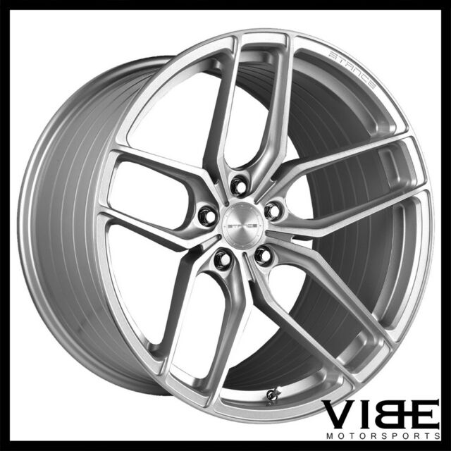 18 Stance Sf03 Silver Concave Wheels Rims Fits Infiniti G37 G37s
