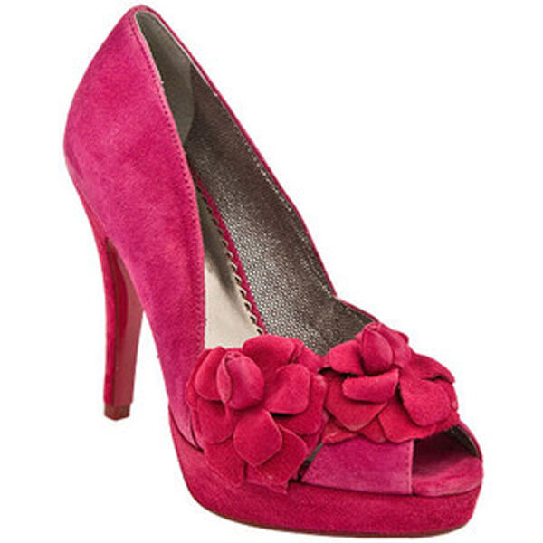 f6e1673971f POETIC LICENCE HOLIDAY DELIGHT RASPBERRY PINK SHOES 9 PLATFORM HIGH HEELS  FLOWER