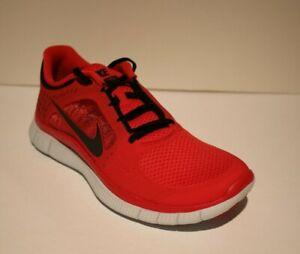 Sabio cumpleaños Reunión  Nike Free 3 Hombre Nuevo Run + Universidad Rojo/Negro Zapatos Correr  Entrenamiento Cruzado   eBay