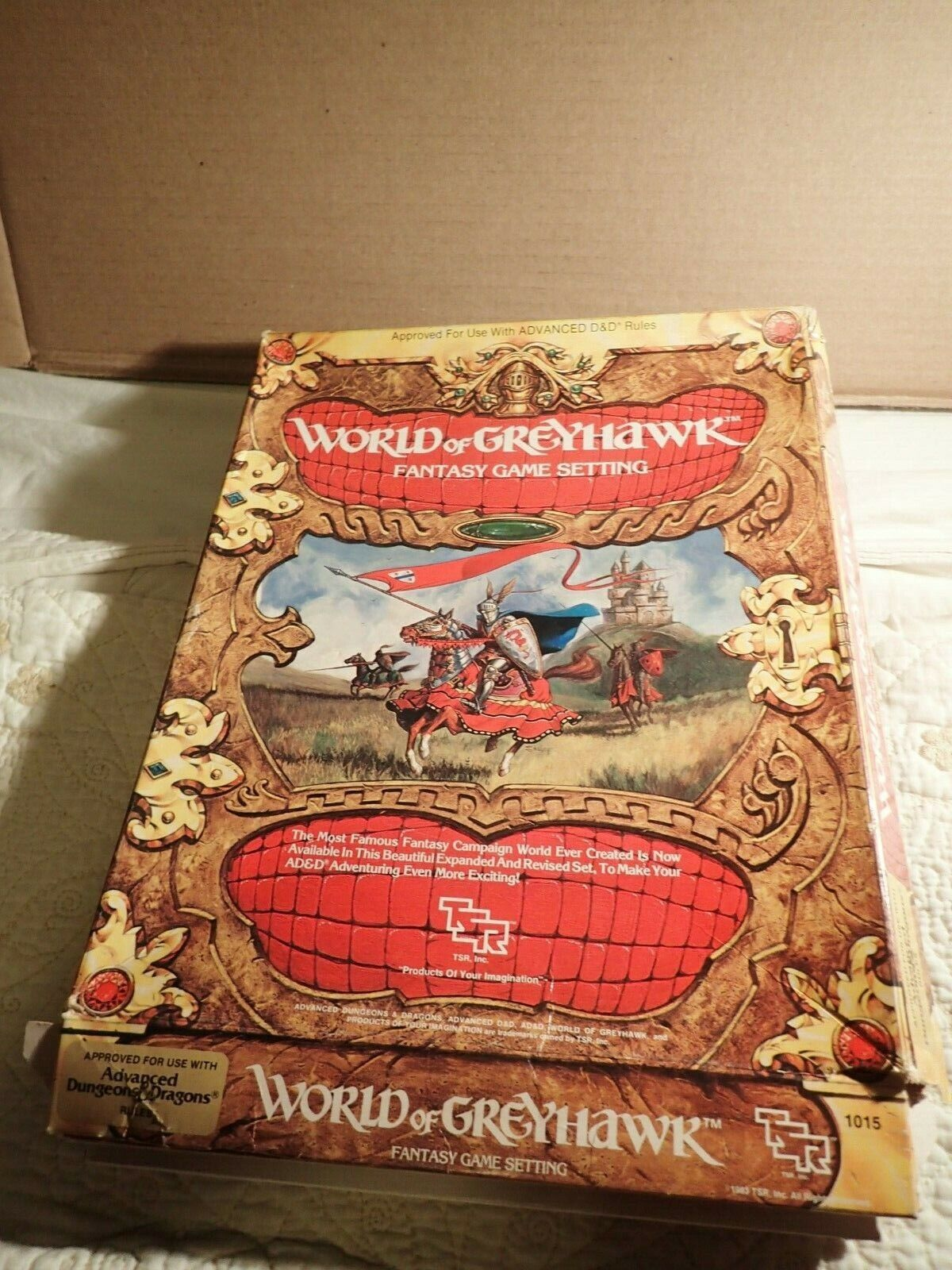 World of Greyhawk (TSR 1015) 1015) 1015) Dungeons & Dragons Campaign Setting boxed Gygax HTF 923c5d