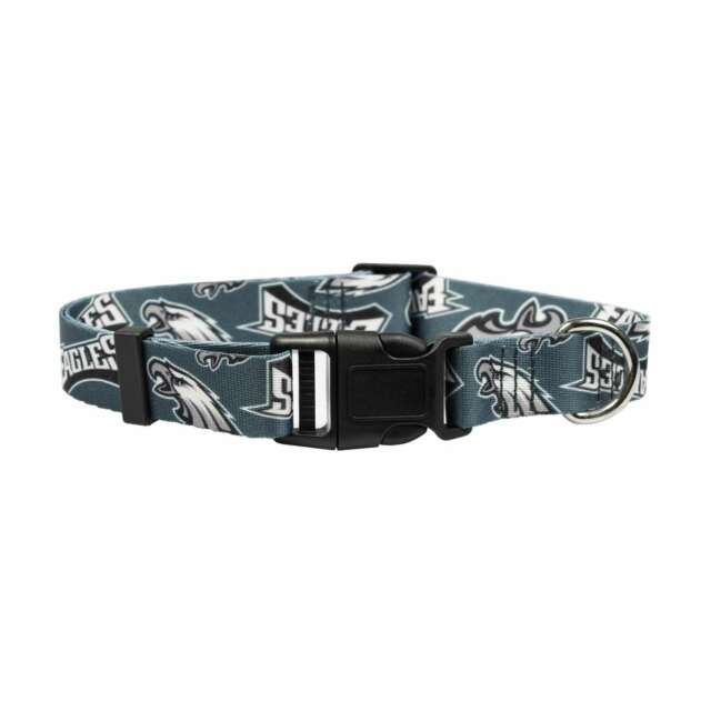 sports shoes 813cd d76c1 NEW PHILADELPHIA EAGLES DOG PET ADJUSTABLE NYLON COLLAR ALL SIZES LICENSED  LE
