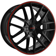 4 Touren Tr60 17x75 5x1085x45 42mm Blackred Wheels Rims 17 Inch Fits More Than One Vehicle