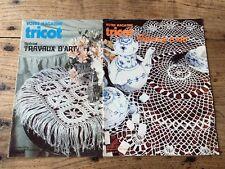 Lot de 2 Votre Mag Tricot - Special Travaux d'art - Catalogues Vintage