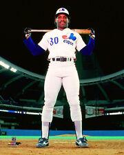 TIM RAINES Iconic Olympic Stadium Pose c1983 Montreal Expos Premium POSTER Print