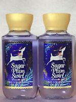 2 Bath & Body Works Sugar Plum Dream Body Wash & Shower Gel Travel 3 Oz Set