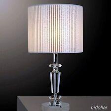 MORDEN SOLID CRYSTAL GLASS BEDSIDE TABLE LAMP DESK LIGHT E27 SAA H47 W25CM