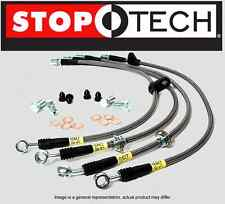 Stoptech Stainless Steel Braided Brake Lines Front /& Rear Set // 33015+33521