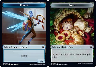x4 English Throne of Eldraine Throne of Eldraine NM-Mint Food Token 015