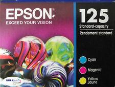 3 Pk Genuine EPSON 125 Color Inks T125520 (T1252- T1254)_T125_  NX420 125 127