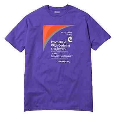 Cough Syrup T-Shirt Promethazine Codeine Sizzurp Sip Lean Purp DJ Screw Houston