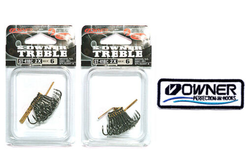 1 Owner/'s patch 2 pack Owner Treble Hook ST 41BC #6 Cutting Point 5641-051