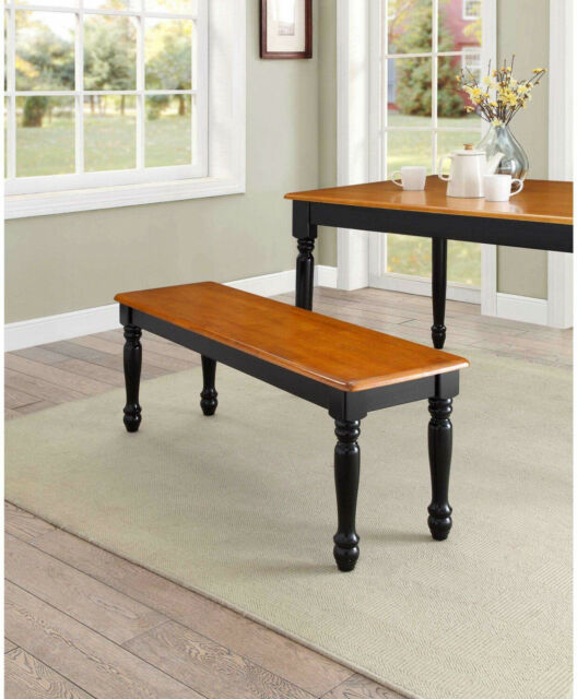 Strange Dining Bench Seat Oat And Black For Dining Table Kitchen Room Solid Wood 1 Piece Machost Co Dining Chair Design Ideas Machostcouk