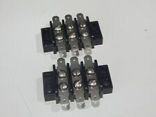 Marco 3 Position Dual Row Terminal Block Strip Quick Connect Terminals Lot Of 2