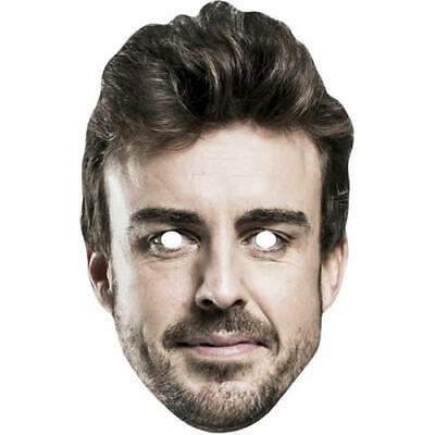 Sistematico Fernando Alonso Celebrity F1 Racing Card Mask-tutte Le Nostre Maschere Sono Pre-tagliati- Prezzo Moderato