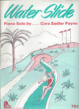 WATER SLIDE / PIANO SOLO BY CORA SADLER PAYNE / SCHAUM PUBLICATIONS 1982