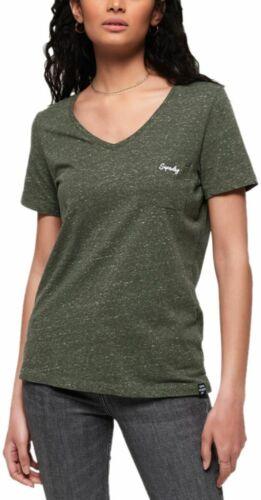 Superdry Women/'s Orange Label Essential V-Neck T-Shirt