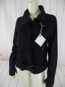 Republic-Jacket-8-10-Black-Thin-Cotton-Moto-Zip-Front-Crop-Shorty-Style-New