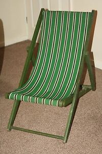 about vintage childs wooden deck chair 1950s 60s kids small