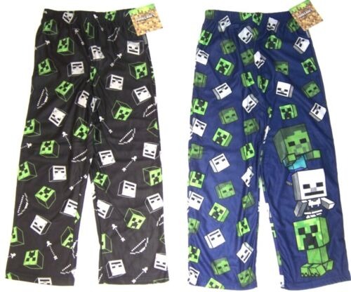 Minecraft  Boy/'s Micro Fleece Pajama //Lounge Pants NWT Navy or Green  Size M 6//8