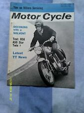 The Motor Cycle magazine (may 1964) Villiers Servicing/BSA A50 test