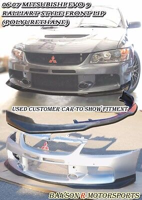 Ral-Style Front Lip (Urethane) Fits 06-07 Mitsubishi EVO 9 [EVO BUMPER ONLY]