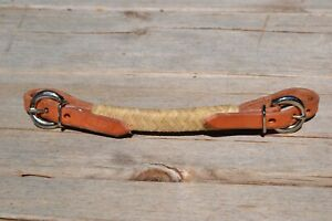 Jose-Ortiz-Harness-Leather-Full-Rawhide-Braid-Double-Buckle-Curb-Strap