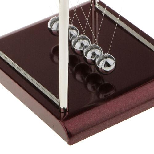 Newtonpendel Kugelstoßpendel Kugelspiel mit Sockel Pädagogisches Spielzeug