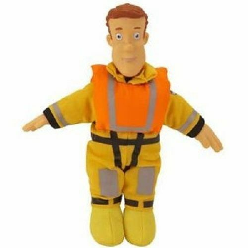 Fireman Sam 6 inch Plush Soft Stuffed Doll Toy Collectables - Boat Rescue Sam