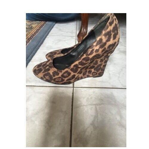 Vera Wang Ella Animal Leopard Wedges Wedges Leopard 92511c