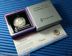 2010-Singapore-Youth-Olympic-Games-5-1oz-999-Fine-Silver-Proof-Like-Colour-Coin