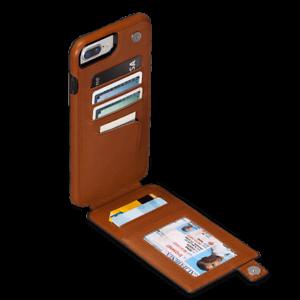 on sale 93263 d9f96 Details about Sena WalletSkin Leather Wallet Case for iPhone 8 Plus, 7  Plus, 6 Plus