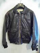 VINTAGE AVIREX US NAVY ISSUE G-1 DISTRESSED LEATHER FLYING JACKET SIZE L
