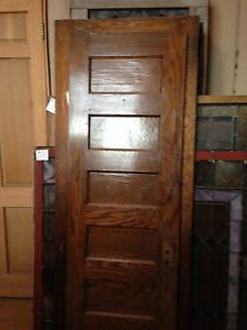 One Interior Flat Panel Oak Door 23 And Three Quarter Inches Wide Od 2 Ebay