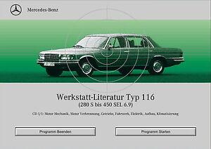 mercedes benz w116 workshop manual werkstatt literatur 280s 450sel rh ebay com Mercedes-Benz W123 Mercedes-Benz W111
