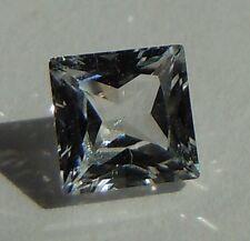 Princess 6x6 mm 1.3 ct Rare VVS D White Sapphire Brilliant Solitaire Cut Stone