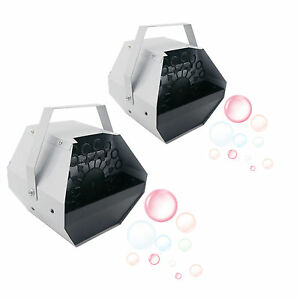 2 Sets 16 Bubble Machine Maker Blower Wand Mini DJ STAGE HOME PARTY Blowing