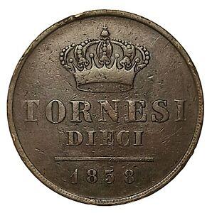 NC-DUE-SICILIE-FERDINANDO-II-DIECI-TORNESI-1858-nc4813