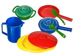 Kidzlane Toy Pots And Pans Set With Play Kitchen Cookware