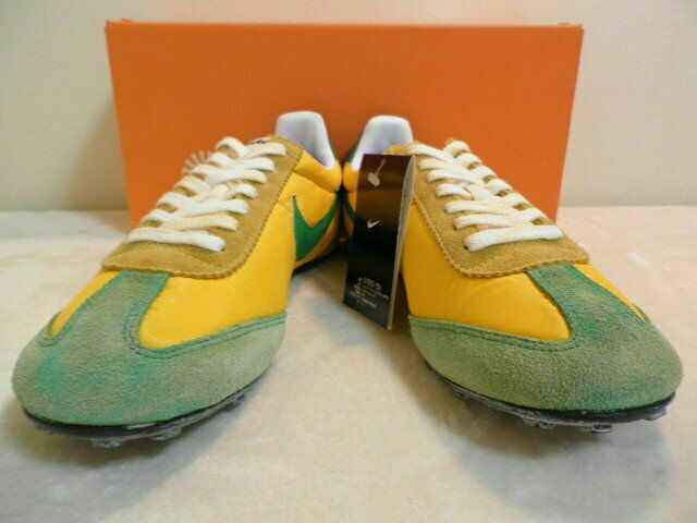 NIKE OREGON WAFFLE VNTG Men's Sneakers shoes Green Yellow Size US 9