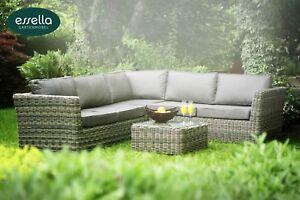 Essella polyrattan garten lounge sitz gruppe rattan gartenm bel m bel sofa couch ebay - Essella gartenmobel ...
