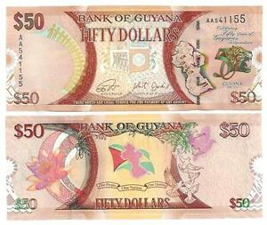 Amerika Papiergeld Welt Guyana 50 Dollars 2016 Commemorative Unc P New Available In Various Designs And Specifications For Your Selection