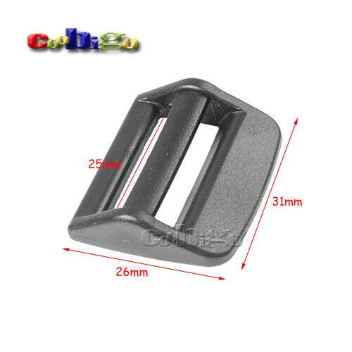 """3//4"""" ~ 1-1//2"""" Ladder Lock Tri-Glide Slider Adjust Buckle Backpack Strap Webbing"""