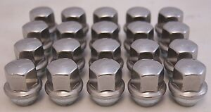 20-New-Dodge-Challenger-Factory-OEM-Stainless-Polished-Lug-Nuts-14x1-5-6509873AA