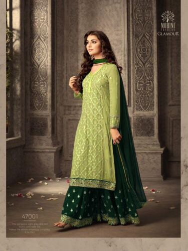 Indian Bollywood Designer Palazzo Salwar Kameez Pakistani Shalwar Suit Eid Dress