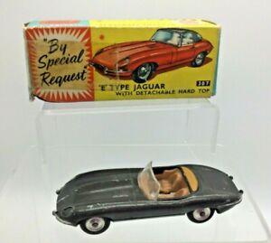Vintage Corgi Toys 307 Jaguar E Tipo en Gris en Caja Original Buenas Condiciones