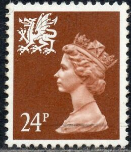 1992-Wales-Sg-W59b-24p-chestnut-Perf-14-Unmounted-Mint