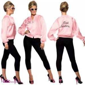 26196bd7392 Grease Pink Ladies Jacket Sandy Rizzo Frenchie Marty Jan 50s Fancy ...