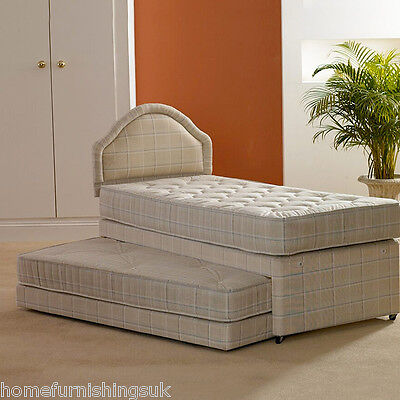 SINGLE 3 IN 1 GUEST BED WITH 2 x DEEP QUILTED MATTRESSES. FREE NEXT DAY DELIVERY